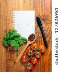 page of white blank lined paper ... | Shutterstock . vector #127826981