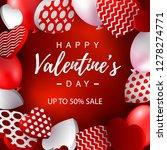 valentines day sale banner.... | Shutterstock .eps vector #1278274771