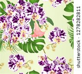 seamless texture bouquet with... | Shutterstock .eps vector #1278282811