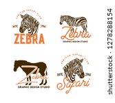 african animals labels isolated ... | Shutterstock .eps vector #1278288154