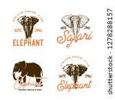 african animals labels isolated ... | Shutterstock .eps vector #1278288157