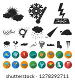 different weather black flat... | Shutterstock .eps vector #1278292711