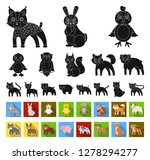 toy animals black flat icons in ... | Shutterstock .eps vector #1278294277