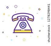 phone icon illustration | Shutterstock .eps vector #1278298441
