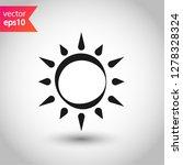 sun icon. sun line icon.... | Shutterstock .eps vector #1278328324