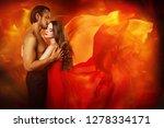 couple beauty portrait  kissing ... | Shutterstock . vector #1278334171