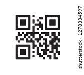 vector qr code sample for...   Shutterstock .eps vector #1278334597
