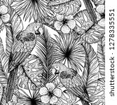 tropical seamless pattern....   Shutterstock .eps vector #1278335551