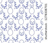 seamless pattern with easter...   Shutterstock .eps vector #1278338701
