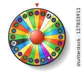 fortune wheel. vector. | Shutterstock .eps vector #127833911