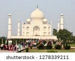agra. india. 2019. taj mahal ... | Shutterstock . vector #1278339211