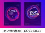 dj party. dynamic gradient... | Shutterstock .eps vector #1278343687