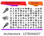 broadcast icon set. 120 filled ... | Shutterstock .eps vector #1278346027