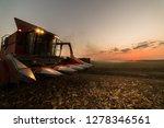 pouring corn grain into tractor ... | Shutterstock . vector #1278346561