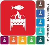 brazier grill with fish icon.... | Shutterstock .eps vector #1278348871