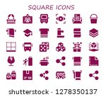 square icon set. 30 filled... | Shutterstock .eps vector #1278350137