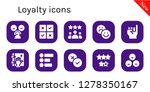 loyalty icon set. 10 filled... | Shutterstock .eps vector #1278350167