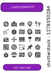 cartography icon set. 25... | Shutterstock .eps vector #1278350284