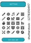 setting icon set. 25 filled... | Shutterstock .eps vector #1278350497