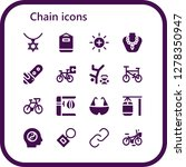 chain icon set. 16 filled... | Shutterstock .eps vector #1278350947