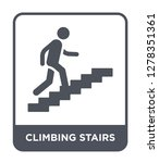 climbing stairs icon vector on... | Shutterstock .eps vector #1278351361