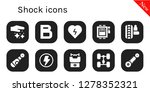 shock icon set. 10 filled... | Shutterstock .eps vector #1278352321