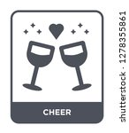 cheer icon vector on white... | Shutterstock .eps vector #1278355861