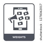 weights icon vector on white... | Shutterstock .eps vector #1278362017
