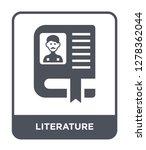 literature icon vector on white ... | Shutterstock .eps vector #1278362044