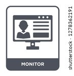 monitor icon vector on white...   Shutterstock .eps vector #1278362191