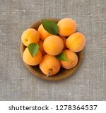 Top View. Ripe Apricots On...
