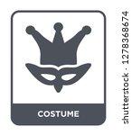 costume icon vector on white... | Shutterstock .eps vector #1278368674
