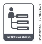 increasing stocks icon vector... | Shutterstock .eps vector #1278371671