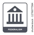 federalism icon vector on white ... | Shutterstock .eps vector #1278377584