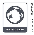 pacific ocean icon vector on... | Shutterstock .eps vector #1278377587