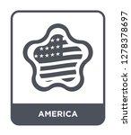 america icon vector on white... | Shutterstock .eps vector #1278378697