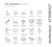 collection of 20 general linear ... | Shutterstock .eps vector #1278381427