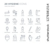 collection of 20 hygiene linear ... | Shutterstock .eps vector #1278381514