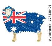 australian flag designed sheep | Shutterstock .eps vector #127838405