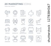 collection of 20 marketing... | Shutterstock .eps vector #1278384367