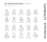 collection of 20 professions... | Shutterstock .eps vector #1278384451