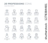 collection of 20 professions... | Shutterstock .eps vector #1278384481