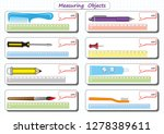 measuring length of the objects ... | Shutterstock .eps vector #1278389611