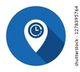 location icon with clock sign....
