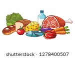 delicious food cartoon | Shutterstock .eps vector #1278400507