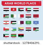 arab world flags | Shutterstock .eps vector #1278406291