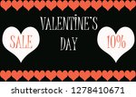 valentines day sale | Shutterstock . vector #1278410671