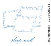 sleep well concept. sketch... | Shutterstock .eps vector #1278428251