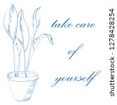 take care of yourself concept.... | Shutterstock .eps vector #1278428254