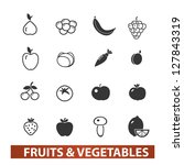 fruits   vegetables icons set ... | Shutterstock .eps vector #127843319